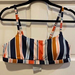 Madewell Second Wave Sport Bikini Top Towel Stripe